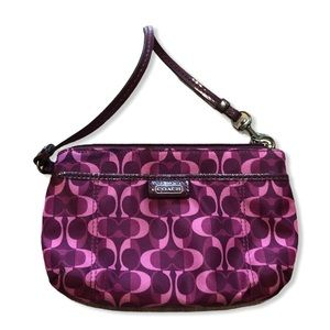 COACH Pink and Purple Wristlet
